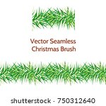 vector seamless fir tree brush. ... | Shutterstock .eps vector #750312640