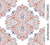 blue and orange seamless... | Shutterstock .eps vector #750313843