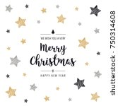 christmas greeting card... | Shutterstock .eps vector #750314608