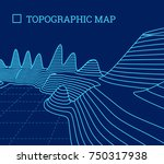topographical map of the... | Shutterstock .eps vector #750317938