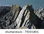 Mort Slate Rock Formation At...