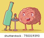alcohol and brain vector... | Shutterstock .eps vector #750319393