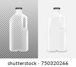 transparent plastic bottle with ... | Shutterstock .eps vector #750320266