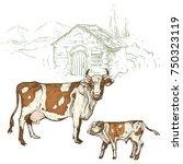 vector illustration. hand... | Shutterstock .eps vector #750323119
