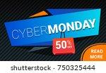 vector cyber monday sale bright ... | Shutterstock .eps vector #750325444