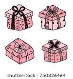 gift boxes   Shutterstock .eps vector #750326464