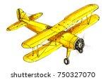 Hand Drawing Retro Aircraft...