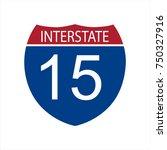 vector illustration interstate... | Shutterstock .eps vector #750327916