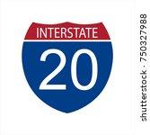 vector illustration interstate... | Shutterstock .eps vector #750327988