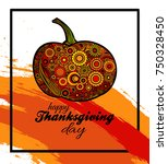 happy thanksgiving day bright... | Shutterstock .eps vector #750328450