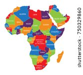 vector illustration africa map... | Shutterstock .eps vector #750329860