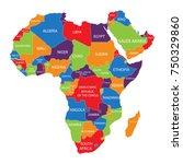 vector illustration africa map... | Shutterstock .eps vector #750329860