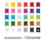 heart flag ribbon bookmark... | Shutterstock .eps vector #750336988