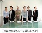 a portrait of a business group   Shutterstock . vector #750337654