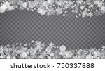 isolated snowflakes on... | Shutterstock .eps vector #750337888