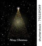 vector christmas background.... | Shutterstock .eps vector #750339349