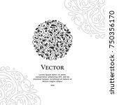 vector emblem. great for logo ... | Shutterstock .eps vector #750356170