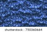 3d illustration. abstract... | Shutterstock . vector #750360664