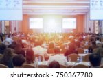abstract blurred conference... | Shutterstock . vector #750367780