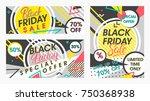 set of black friday sale... | Shutterstock .eps vector #750368938
