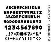 alphabet in scandinavian style. ... | Shutterstock .eps vector #750370489
