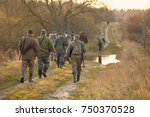 group of hunters during hunting ...   Shutterstock . vector #750370528