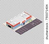 isometric model of typical...   Shutterstock .eps vector #750371404