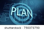 planning and strategy is... | Shutterstock . vector #750373750