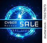 cyber monday sale vector banner ...   Shutterstock .eps vector #750375073