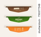 natural label and organic fresh food  label. vintage labels and badges design. | Shutterstock vector #750377548