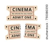 ripped vintage paper ticket... | Shutterstock .eps vector #750380350