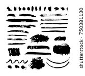 black vector brush strokes of... | Shutterstock .eps vector #750381130