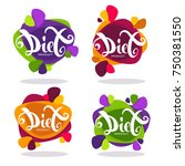 vector collection of bright ... | Shutterstock .eps vector #750381550