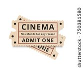 two vintage tickets to the... | Shutterstock .eps vector #750381580