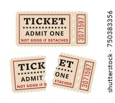 ripped vintage paper ticket... | Shutterstock .eps vector #750383356