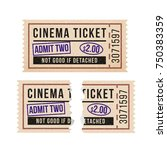 ripped vintage paper ticket... | Shutterstock .eps vector #750383359
