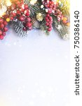 christmas and new year holidays ... | Shutterstock . vector #750386140
