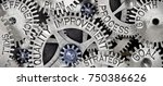 macro photo of tooth wheel... | Shutterstock . vector #750386626