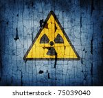 Radiation Sign On An Old...