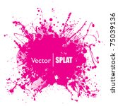 grunge halftone ink splat with... | Shutterstock .eps vector #75039136