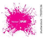 grunge halftone ink splat with... | Shutterstock .eps vector #75039136