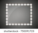makeup mirror isolated with...   Shutterstock .eps vector #750391723