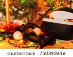 a gift for christmas  new year  ... | Shutterstock . vector #750393616