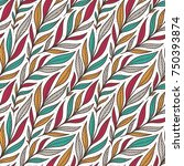 hand drawn pattern with... | Shutterstock .eps vector #750393874