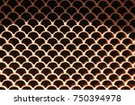 Small photo of Detail of wall made of hallow bricks