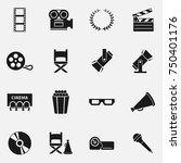 set of film or cinema elements... | Shutterstock .eps vector #750401176