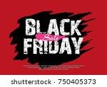 abstract vector black friday... | Shutterstock .eps vector #750405373