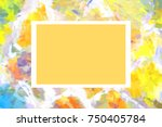 mock up stone wall frame  card  ...   Shutterstock . vector #750405784