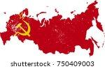 soviet union flag map eroded