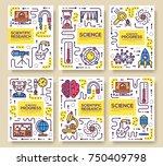 set of thin line technical... | Shutterstock .eps vector #750409798
